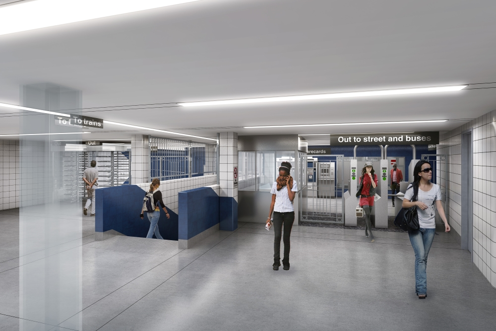 Blue Line Subway Renovation Mezzanine Rendering F H Paschen